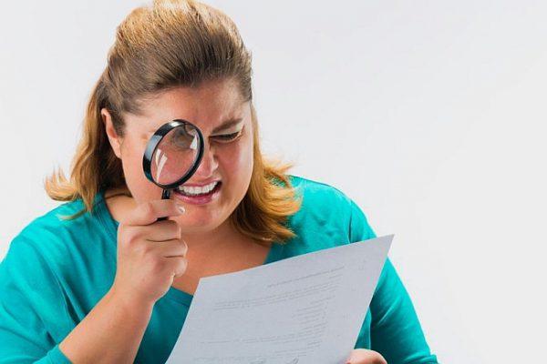 Mit Lupe Informationen lesen - wo bleibt die Kundenorientierung?