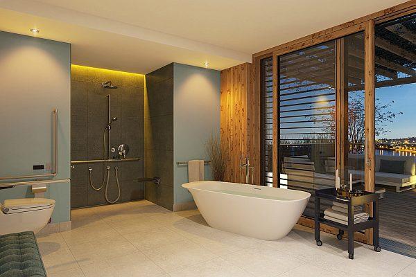 Barrier-free building - bathroom