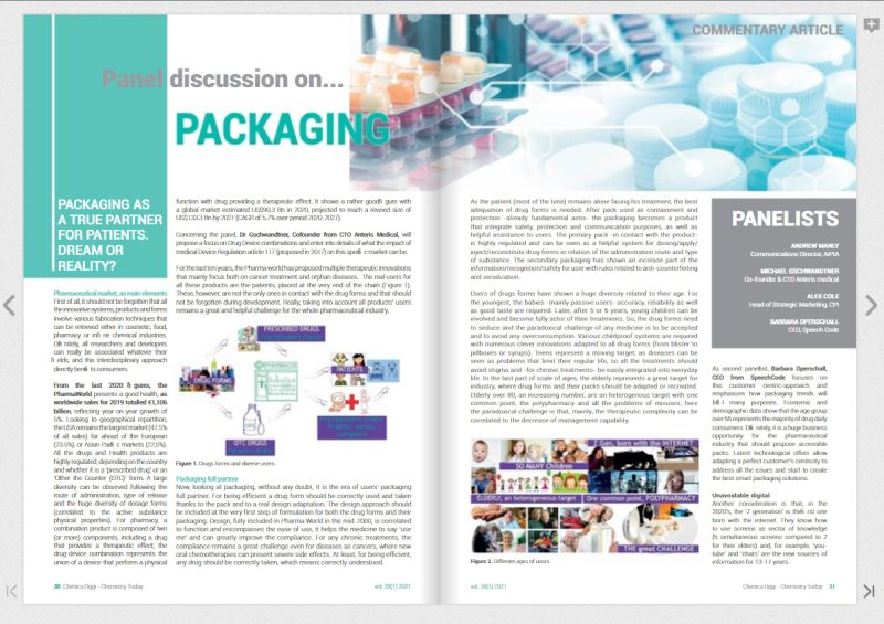Pic of online magazine about smart pharmaceutical packaging