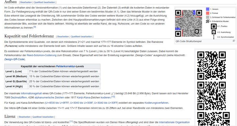 Grüner Pass: Wikipedia über QR-Code